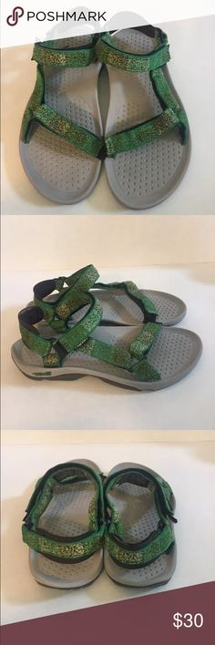 cb6fbe7d0c8e4 Teva Sport Hurricane 3 Sandals Excellent used condition Women s Teva  Hurricane 3 sandals green size Soles are in great condition