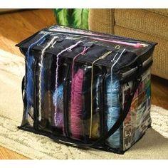 yarn organizers | http://www.yagarden.net/6-skein-yarn-organizer-tote-w-shoulder-strap ...