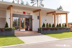 The beautiful new club house at the golf course in Saimaa, Finland