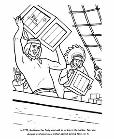 All Things John Adams Coloring Pages Boston Tea Party Boston Tea