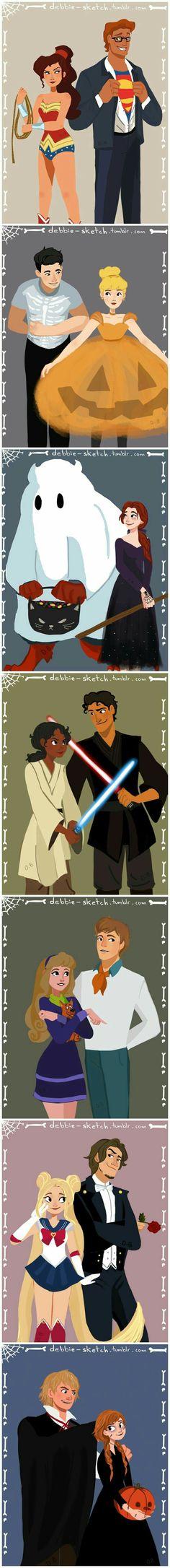 Halloween Disney Couples Más // Aurora and Phillip 😍😍 Disney Pixar, Disney Animation, Disney Kunst, Disney Memes, Disney Fan Art, Disney And Dreamworks, Disney Characters, Disney Artwork, Funny Disney