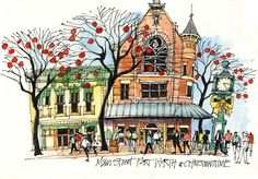 James Richards Sketchbook: It's not a movie, it's Fort Worth!