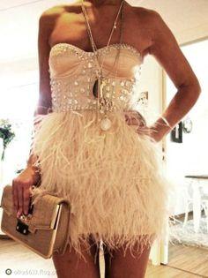 sukienka z futerkiem