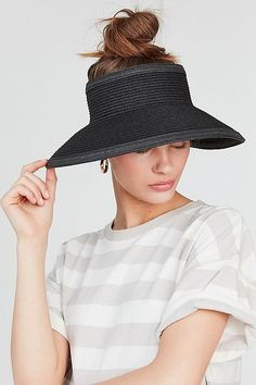 Shop Straw Visor Hat at Urban Outfitters today. We carry all the latest styles, colors and brands for you to choose from right here. Straw Visor, Visor Hats, Urban Outfitters Women, Floppy Hats, Wide Brimmed Hats, Outfits With Hats, Work Outfits, Summer Accessories, Clothing Accessories