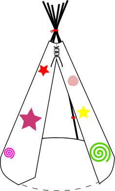 teepee craft template - the very easy teepee pattern sew your own teepee paper