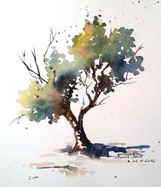 BB-Aquarell: Direkt mit dem Pinsel / Direkt mit dem Pinsel BB-Aquarell: Direct with the brush / Direct with the brush Watercolor Tree, Art Painting, Landscape Paintings, Watercolor Trees, Tree Painting, Watercolor Flowers, Art, Watercolor Landscape, Water Painting