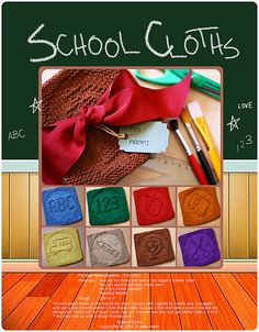 Ravelry: School Cloths pattern by Kris Knits Knitted Dishcloth Patterns Free, Knitting Squares, Knitted Washcloths, Crochet Dishcloths, Knitted Blankets, Crochet Patterns, Loom Knitting Projects, Knitting Ideas, Diy Baby Gifts
