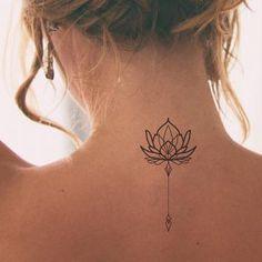 Tatoo Neck, Nape Tattoo, Lotis Flower, Flowers, Airplane Tattoos, Nape Of Neck, Lotus Tattoo, Piercing, Tattoo Ideas