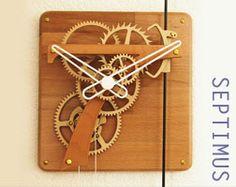 Wooden Gear Clock, Wooden Gears, Wood Clocks, Wall Clock Kits, Cogs, Sculptures, Projects, Diy, Image