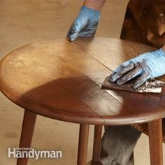 How to Refinish Furniture without stripping tips (I might do this with bedroom furniture I want to stain burgundy)
