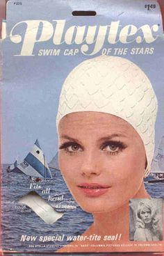 Bathing caps, required to swim in the pool at the Balboa Bay Club, however, if you were a boy even with long hair, you didn't have to wear them!