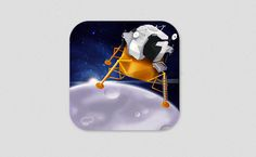 Icon or button by Andrewartdesign for J-Squared software. #icon #space #mobiledesign #graphicdesign