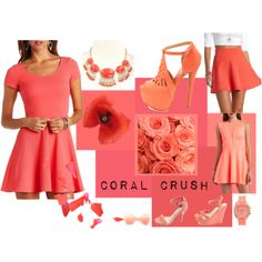 """Coral Crush"" by charlotterusse on Polyvore"