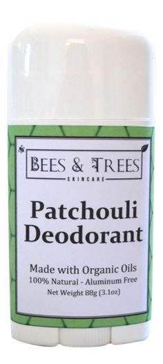 Bees & Trees - Natural Patchouli Deodorant