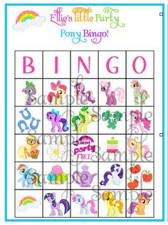 My LIttle Pony BINGO game personalized by ckfireboots on Etsy, $13.00