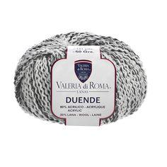 """""""Duende"""", un ovillo 80% Acrílico y 20% Lana de 50 gramos y 120 metros (131 yardas), ideal para usar con agujas del número 4-4½. Cuenta con un surtido de 12 colores."""