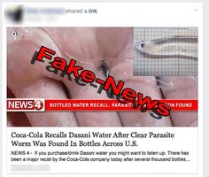 No, Coke Has NOT Recalled Dasani Water Due to Parasite Contamination
