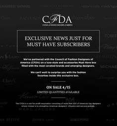 Popsugar + CFDA Limited Edition Box Available Today! - http://hellosubscription.com/2015/04/popsugar-cfda-limited-edition-must-have-box/