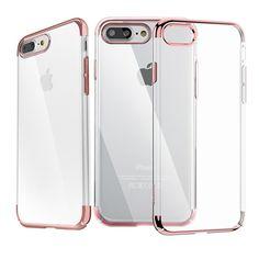 Coque iPhone 7 Plus Polycarbonate Super Slim - Transparent / Or Rose