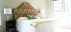41 DIY Headboard Projects That Will Change Your Bedroom Design Diy King Headboard, Girls Headboard, Make Your Own Headboard, Headboard Benches, Headboards For Beds, Fabric Headboards, Handmade Headboards, Upholstered Headboards, Diy Room Decor For Teens