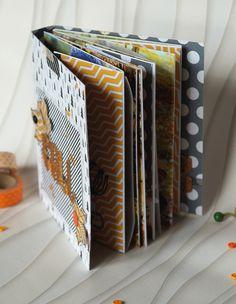 Le scrap d 'Opsite: Tutoriel Mini Album Automne: détails et photos