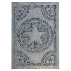 Hammered tin designs for kitchen cabinets. Amish. Punched tin designs