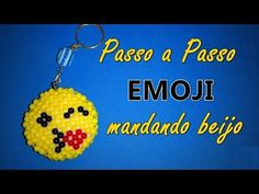 Emoji mandando beijo - Passo a Passo - Miçangas ou Pérolas - YouTube