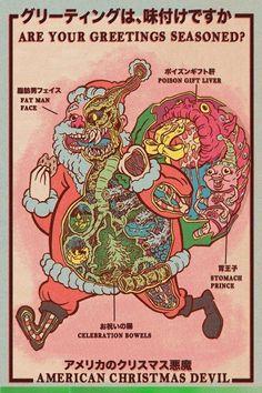 Zašibeckijs salavecis  (Retro American Christmas Devil cards by Brad McGinty)
