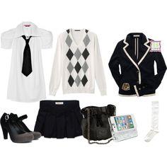 """School Uniform."" by eduarda-rozante on Polyvore"