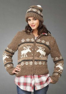 Reindeer Games Hat and Jacket in Bernat Roving. From knitting & crochet yarn and patterns to embroidery & cross stitch supplies! Shop all the craft materials you need to start your next project. Sweater Knitting Patterns, Crochet Cardigan, Knit Patterns, Free Knitting, Knit Crochet, Vintage Knitting, Wool Cardigan, Sweater Coats, Christmas Knitting
