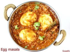 Egg recipes - Collection of 52 anda recipes. Includes curries, snacks, rice , sandwiches and many more made with egg as the main ingredient. Roast Recipes, Veg Recipes, Curry Recipes, Vegetarian Recipes, Cooking Recipes, Chicken Recipes, Egg Masala, Masala Curry, Culture