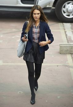 Jessica Alba wearing Jenni Kayne d'Orsay Flats in Black,  Jessica Alba How to Make Love Like an Englishman set October 29 2013