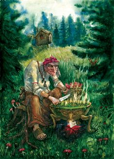 baba yaga - famous Russian witch
