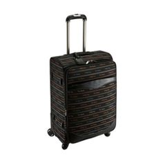 Genuine Pierre Cardin Carnival Luggage Expend Carry-On Travel Bag/ 24 inch Black