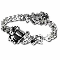 Solid, 3-dimensional, Twin Tattoo Guns Bracelet Alchemy Gothic Alternative Lifestyle Women's Men's Jewelry A.E.. $69.99. Solid, 3-dimensional, Twin Tattoo Guns Bracelet Alchemy Gothic Alternative Lifestyle Women's Men's Jewelry