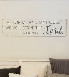 As for me and my house sign, scripture wall art, rustic wood sign, rustic home decor