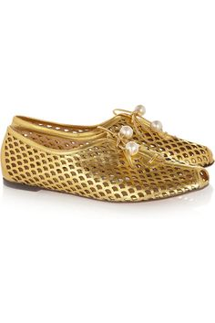 Charlotte Olympia Nixie cutout suede brogues