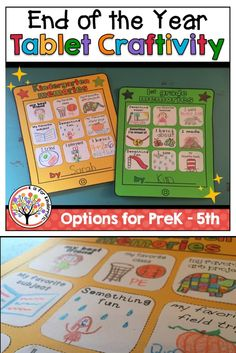 This craft is perfect for your end of the year activities! It's simple and fun and has options for preschool, kindergarten, first grade, second grade, third grade, fourth grade, and fifth grade! Students will love designing their own icons to go on their personalized tablet!