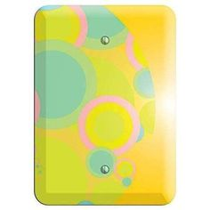 The Yellow Circles Cover Plates are very unique and cannot be found anywhere else. These USA made metal wall plates are highly detailed and made with some of the newest UV imaging technology available resulting in photograph quality prints on durable metal switchplates.