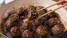 General Tso Meatballs - switch out bread crumbs for GF version (watch soy sauce, check hoisin sauce)