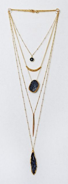 Four layers ring balls decoration long alloy necklace