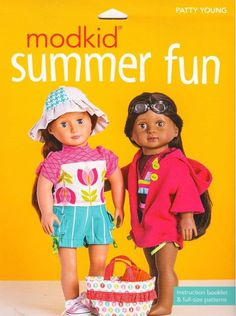 """Modkid Summer Fun  18"""" Doll Clothes Sewing  Patterns"""