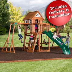 backyard discovery pioneer swing set with bonus 2person glider outside dimensions 19 - Lifetime Adventure Tower Playset