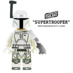 "A digital simulation of what a ""Supertrooper"" version of a LEGO Star Wars Boba Fett prototype minifigure would look like"