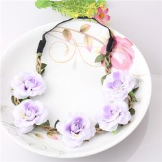 New Women Hair Accessories Bride Bohemian Flower Headband Festival Wedding Floral Garland Summer Hair Band Scrunchy Headband-in Hair Accessories from Women's Clothing & Accessories on Aliexpress.com | Alibaba Group
