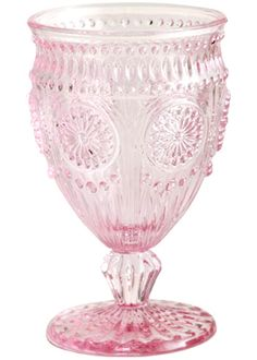 Rosanna Parisian Glassware Pink Set of 4 $40 at Layla Grayce. I would so love a set even though only 7 oz ea. Would be lovely as table vases!