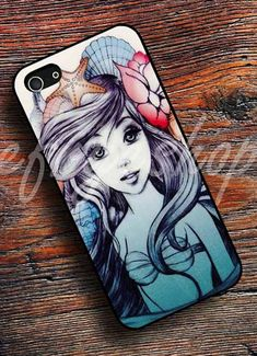 Ariel Gifts for Teen Girls: Disney The Little Mermaid Beautiful iPhone 4 / 4S / 5 / 5C / 5S / 6 / 6+ Case by Cefrye Shop @ Etsy