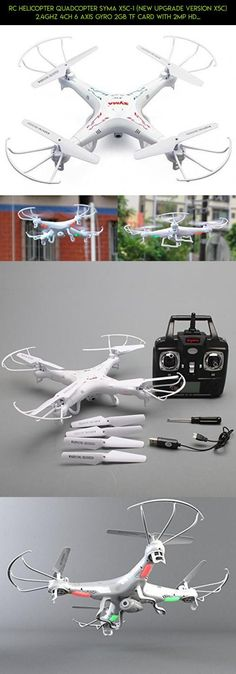 RC Helicopter Quadcopter SYMA X5C-1 (New Upgrade Version X5C) 2.4GHz 4CH 6 Axis Gyro 2GB TF Card with 2MP HD camera With The third Smaller safer Packing Orginal Box - 4 additional Propellers + 2GB TF Card + Card Reader + Tracking Number #products #camera #camera #gadgets #syma #technology #upgrade #kit #parts #drone #fpv #racing #plans #tech #shopping