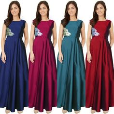 Checkout this colourful designer gown  Product Info : Material:- Taffeta Silk Stitch Type:- Stitched (No stitching required) Size:- S M XL Neck Type:- Round Sleeve:- Sleeveless Colour:- Sea GreenPinkMaroonBlack  Price : 2200 INR Only ! #Booknow  CASH ON DELIVERY Available In India ! World Wide Shipping !  For orders / enquiry  WhatsApp @ 91-9054562754 Or Inbox Us  Worldwide Shipping !  #SHOPNOW  #indianwear #ethnicwear #bollywood #dress #outfit #salwarkameez #saree #lehengacholi #style…