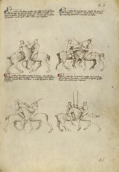 Equestrian Combat with Sword, Fiore Furlan dei Liberi da Premariacco (Italian, about 1340/1350 - before 1450), Italian, about 1410